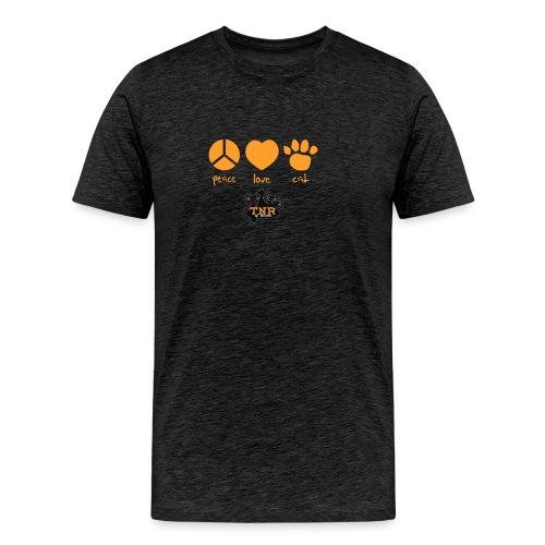 Peace Love Cat - Men's Premium T-Shirt