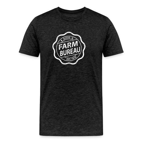 White Distressed Logo - Men's Premium T-Shirt