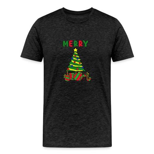 merry christmas tree instruments - Men's Premium T-Shirt