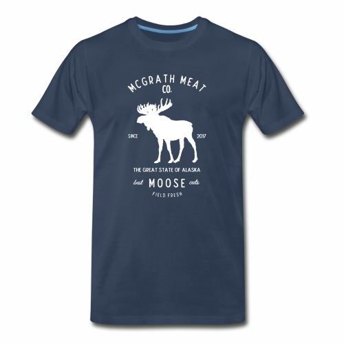 McGrath Meat Company White Stamp Logo - Men's Premium T-Shirt
