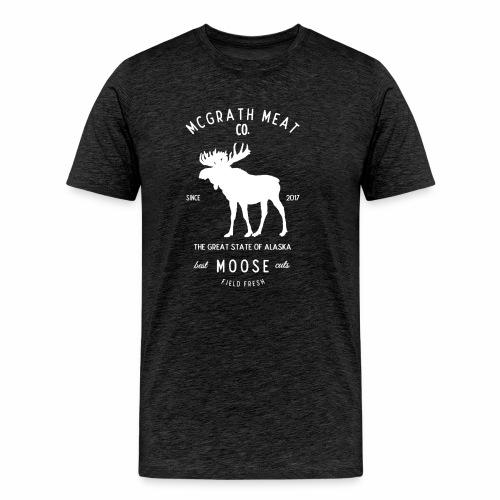 McGrath Meat Company White Stamp Logo - Men's Premium T-Shirt