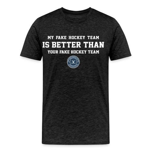 Fake Hockey (dark) - Men's Premium T-Shirt