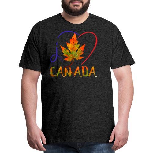 j'aime CANADA - T-shirt premium pour hommes