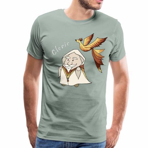 cleric white text - Men's Premium T-Shirt