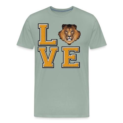 Lion Love Gold Box - Men's Premium T-Shirt