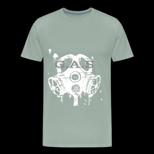 Big White Gas Mask 1 - Men's Premium T-Shirt
