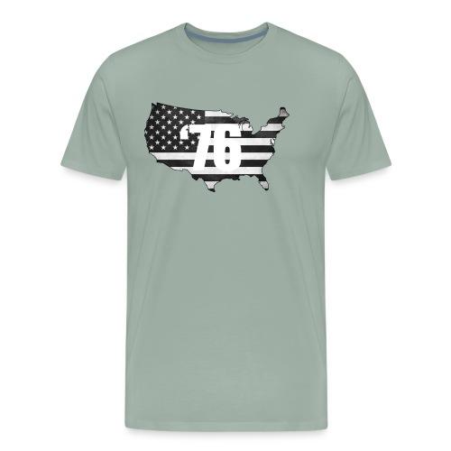 USA Black and White - Men's Premium T-Shirt