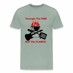 Fire and Flames BBQ - Men's Premium T-Shirt