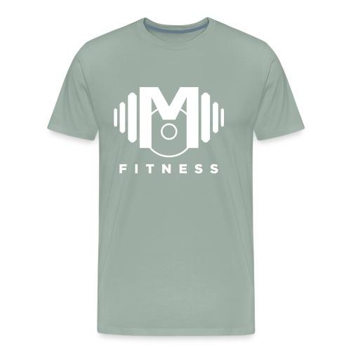 Mo Fitness - White - Men's Premium T-Shirt