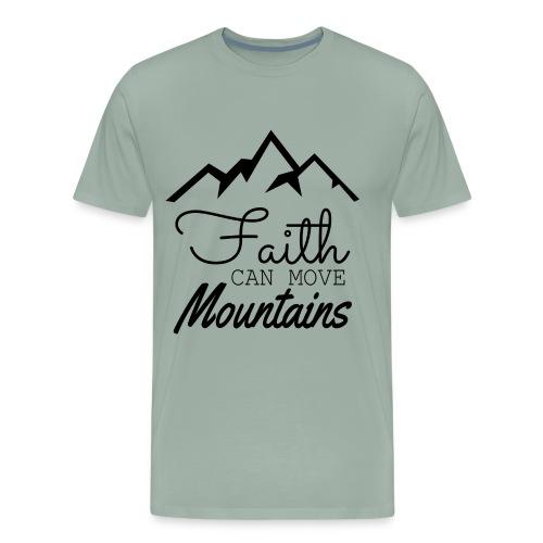 Faith Can Move Mountains - Men's Premium T-Shirt