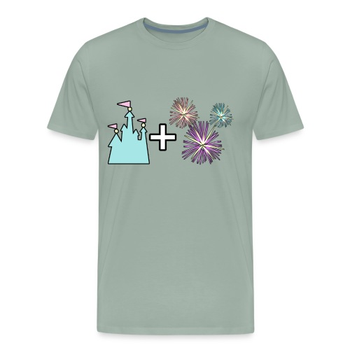 Castle & Fireworks - Men's Premium T-Shirt
