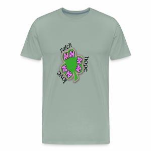 FAITH SHAMROCK - Men's Premium T-Shirt