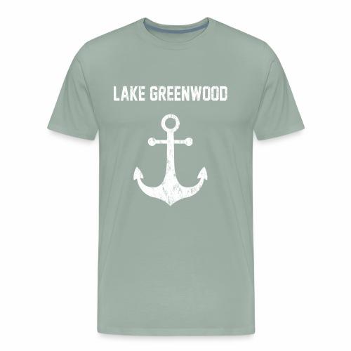 Lake Greenwood South Carolina Anchor Design - Men's Premium T-Shirt