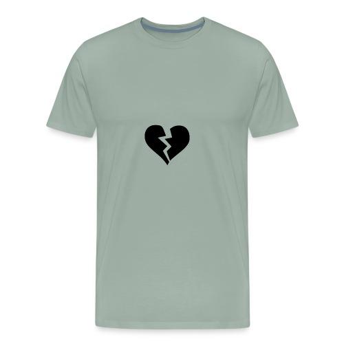 Black Broken Heart - Men's Premium T-Shirt