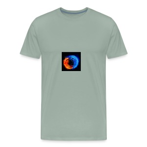 swirling fire and water 310265 - Men's Premium T-Shirt