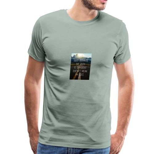 We all have a path chose the right one. - Men's Premium T-Shirt