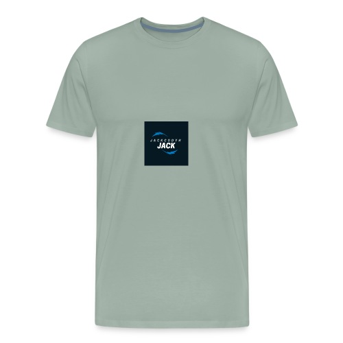 JackCodyH blue lightning bolt - Men's Premium T-Shirt