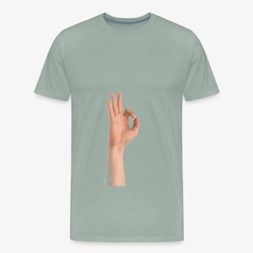 Ok sign - Men's Premium T-Shirt