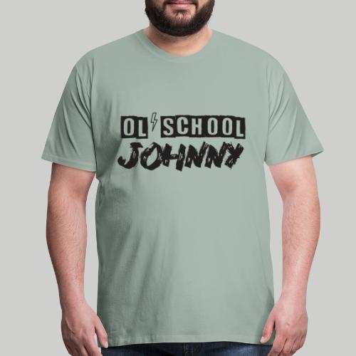 Ol' School Johnny Logo - Black Text - Men's Premium T-Shirt