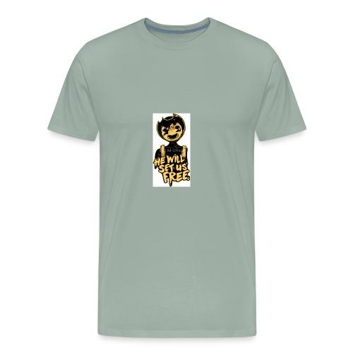 Bendy Merch (SUB FOR MY YT CHANNEL!) - Men's Premium T-Shirt