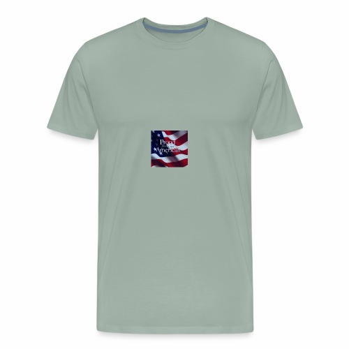 770764ed8cfed391ab7ad85ff8b8f2bb american flag am - Men's Premium T-Shirt