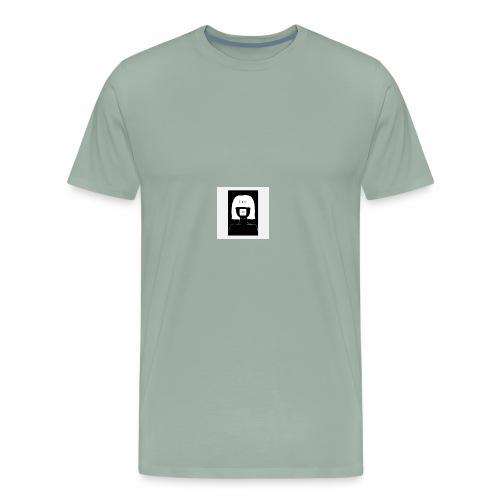 be quiet muted mind poster black poster 24x36 - Men's Premium T-Shirt