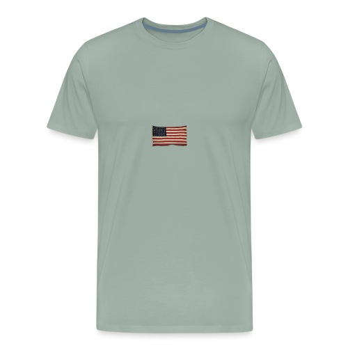WWII Era Garrison Flag - Men's Premium T-Shirt