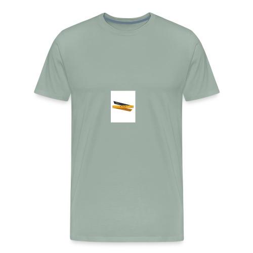 Ninja Headband Katana Yellow Folded 01 large - Men's Premium T-Shirt