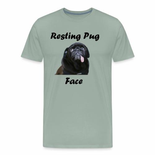 Resting Pug Face Tshirt - Men's Premium T-Shirt