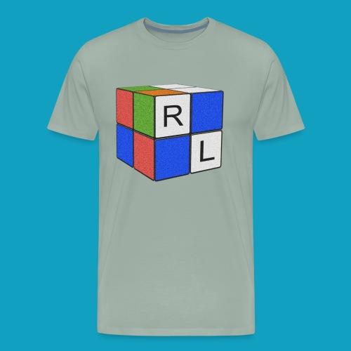 Faded Cube - Men's Premium T-Shirt