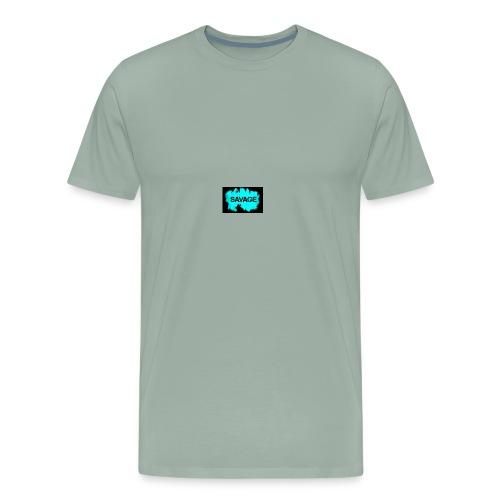 savage logo on sweter - Men's Premium T-Shirt