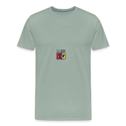 MS DOS Prompt logo - Men's Premium T-Shirt