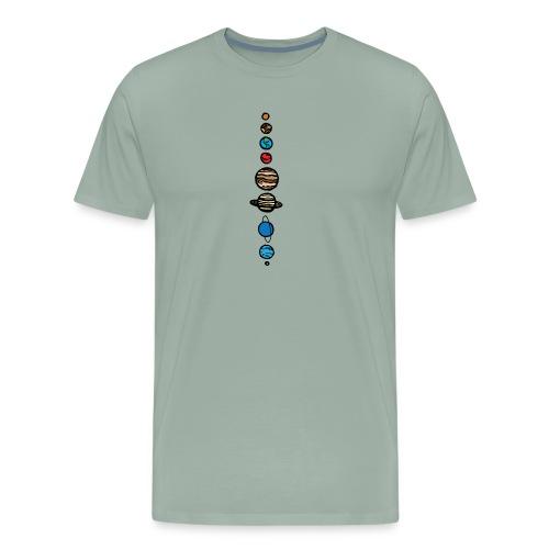 Planets Colour - Men's Premium T-Shirt