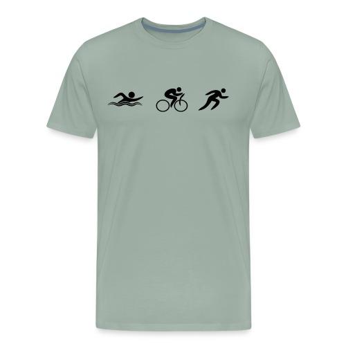 Swim Bike Run - Figures - Men's Premium T-Shirt