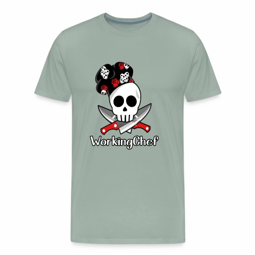 WorkingChef - skulls - Men's Premium T-Shirt