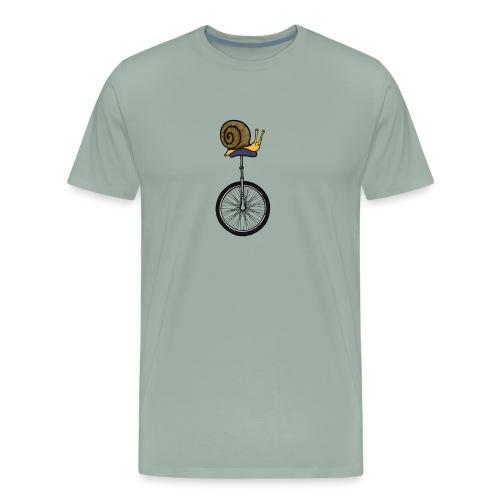 Unicycle Snail - Men's Premium T-Shirt