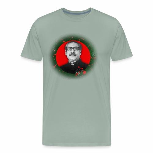 Bangabandhu inside red circle of flag - Men's Premium T-Shirt