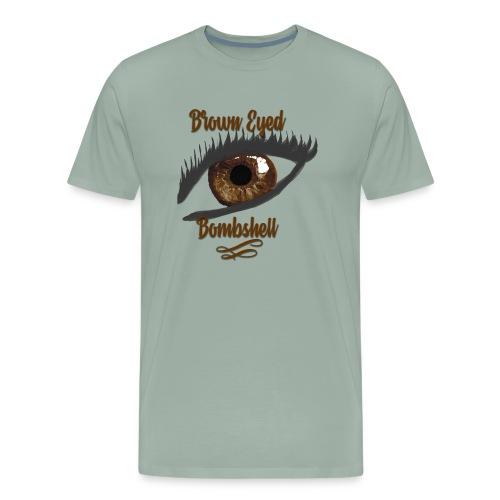 Brown Eyed Bombshell Humble Brag - Men's Premium T-Shirt