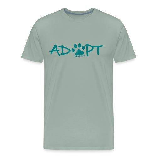 Rescue Dogs 101Adopt Pawprint - Men's Premium T-Shirt