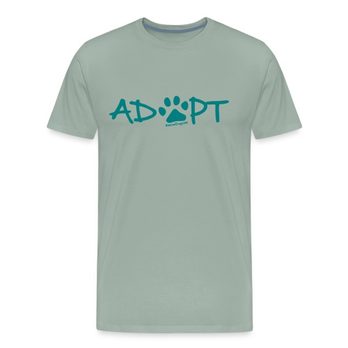 Rescue Dogs 101Adopt Pawprint - Men's Premium T-Shirt