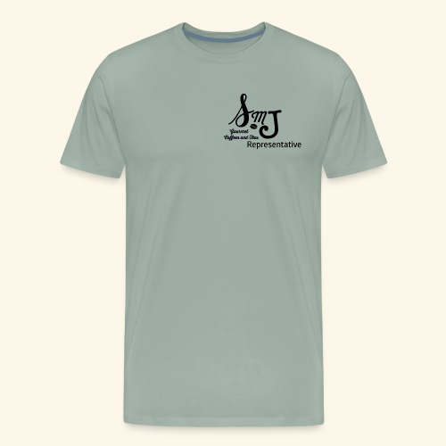 SMJ Rep. Black - Men's Premium T-Shirt