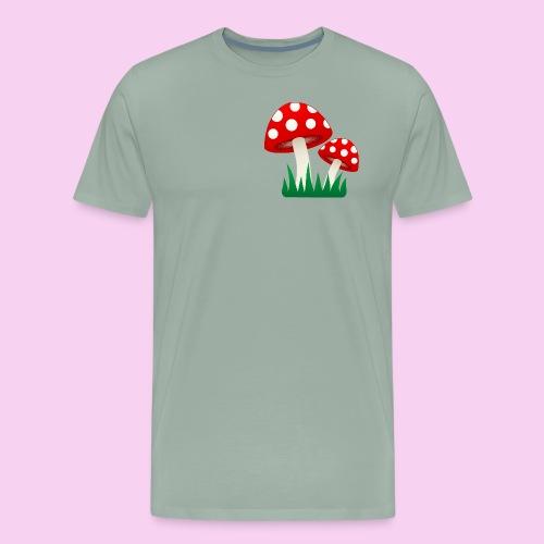 Grassy Shrooms - Men's Premium T-Shirt