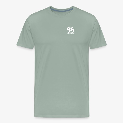 94 jezzus white logo - Men's Premium T-Shirt