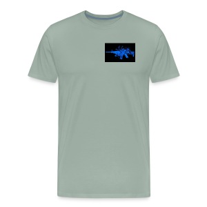 blue gun - Men's Premium T-Shirt