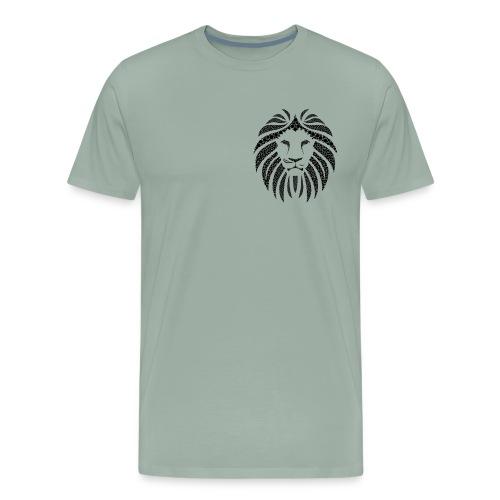 Lion head (black) - Men's Premium T-Shirt