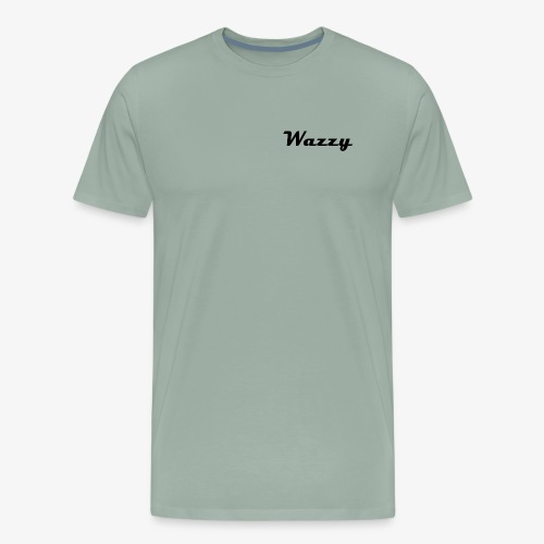 Wazzy Grey and White - Men's Premium T-Shirt
