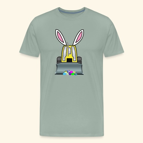 Funny Easter Egg Hunt Bunny bulldozer construction - Men's Premium T-Shirt