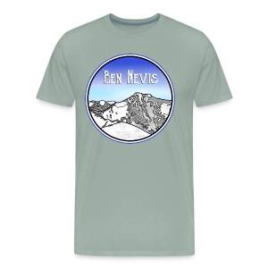 Ben Nevis Mountain - Men's Premium T-Shirt
