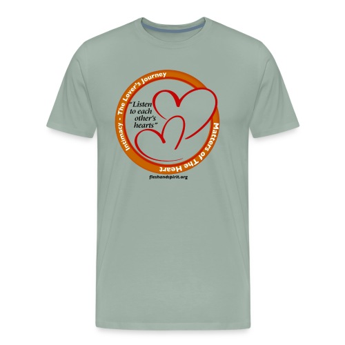Matters of the Heart T-Shirt: Listen to each other - Men's Premium T-Shirt