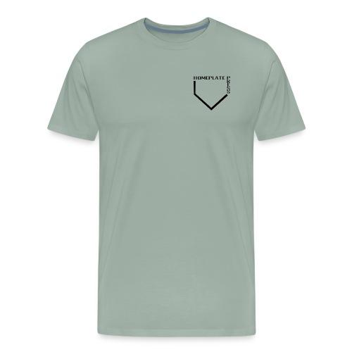 HOMEPLATE PRESS BLACK LOGO - Men's Premium T-Shirt